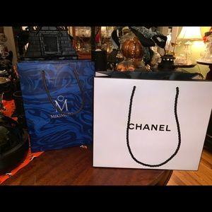Chanel and Mikimoto bags